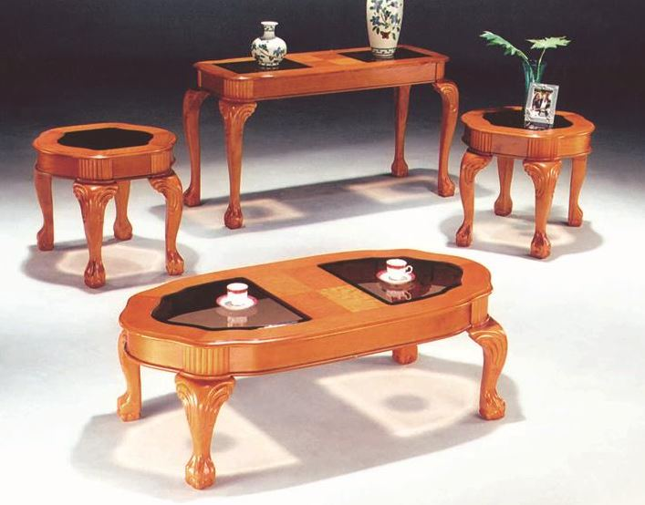 Coffee Table with three end tables