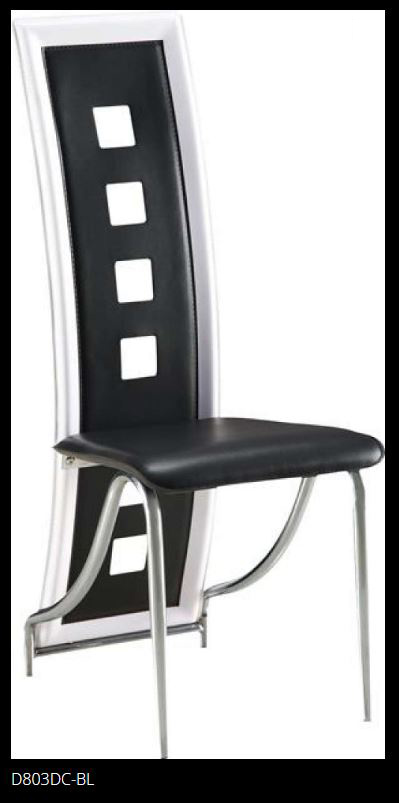 Black Chairs with White Trim