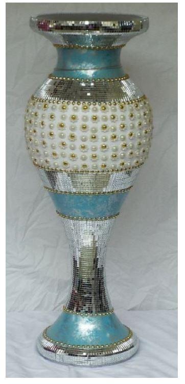 Aqua Blue Floor Vase